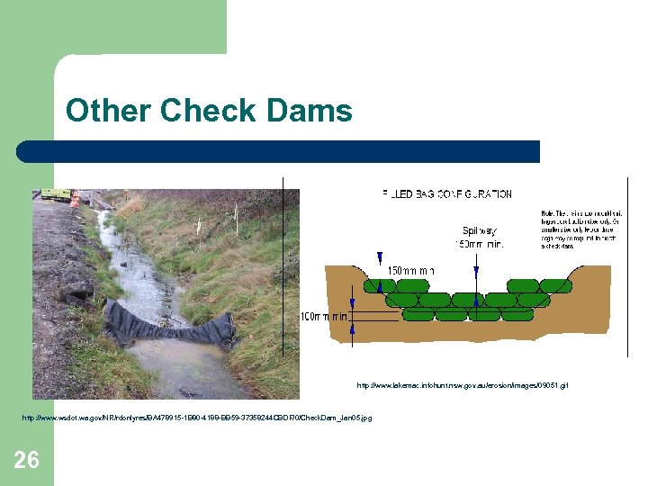 Other Check Dams http: //www. lakemac. infohunt. nsw. gov. au/erosion/images/09051. gif http: //www. wsdot.