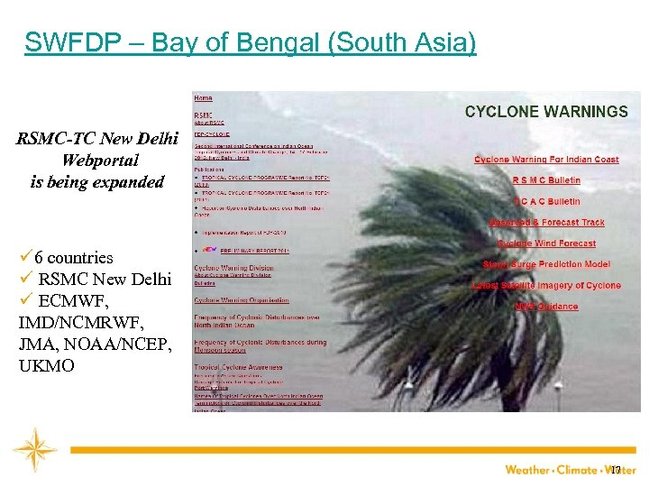 SWFDP – Bay of Bengal (South Asia) RSMC-TC New Delhi Webportal is being expanded