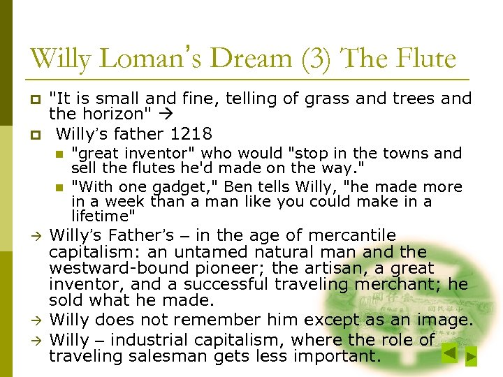 Willy Loman's Dream (3) The Flute p p