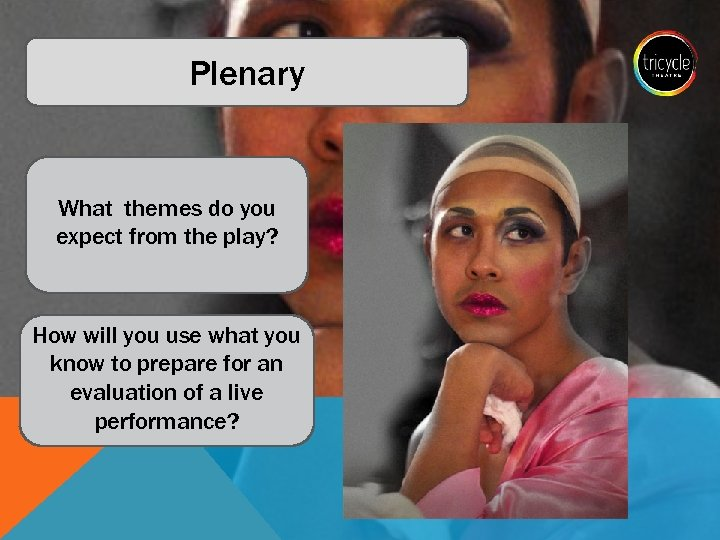 Plenary What themes do you expect from the play? How will you use what