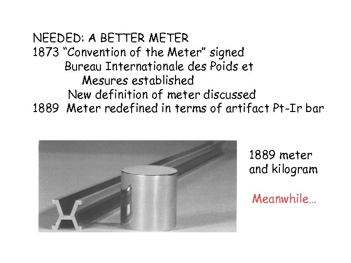 "NEEDED: A BETTER METER 1873 ""Convention of the Meter"" signed Bureau Internationale des Poids"