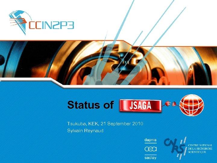 Status of Tsukuba, KEK, 21 September 2010 Sylvain Reynaud
