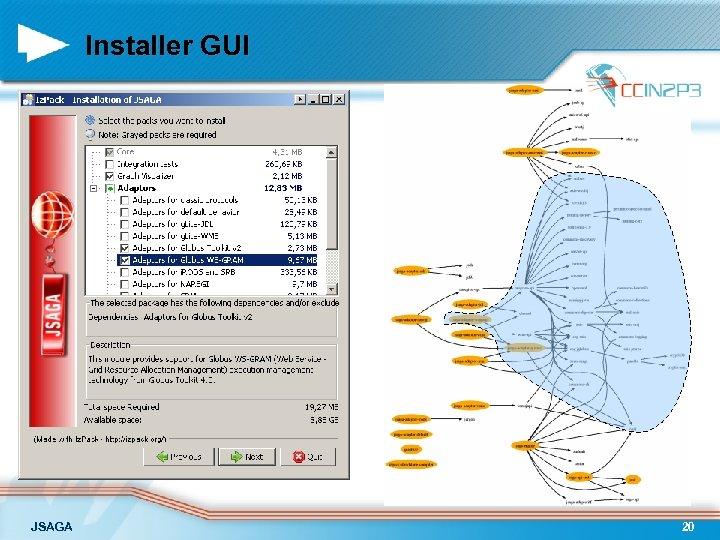 Installer GUI JSAGA 20