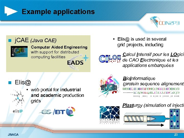 Example applications n j. CAE (Java CAE) • Computer Aided Engineering with support for