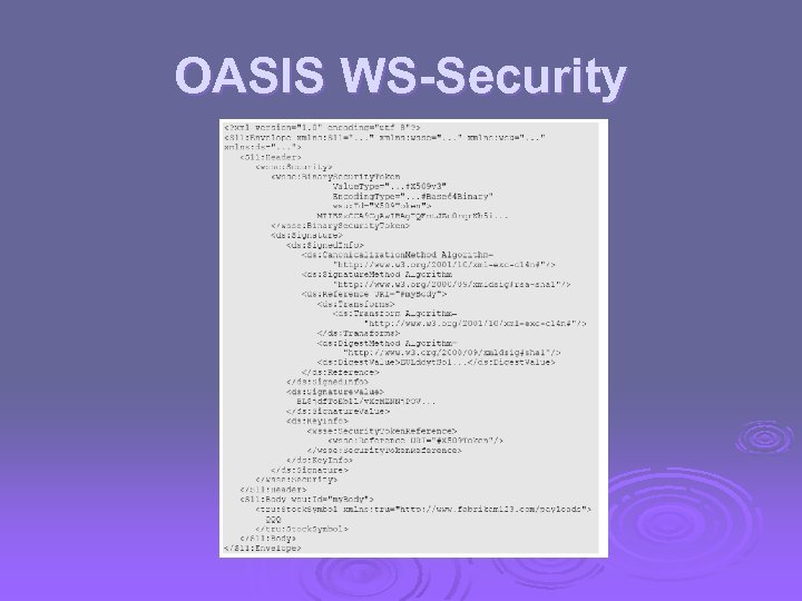OASIS WS-Security
