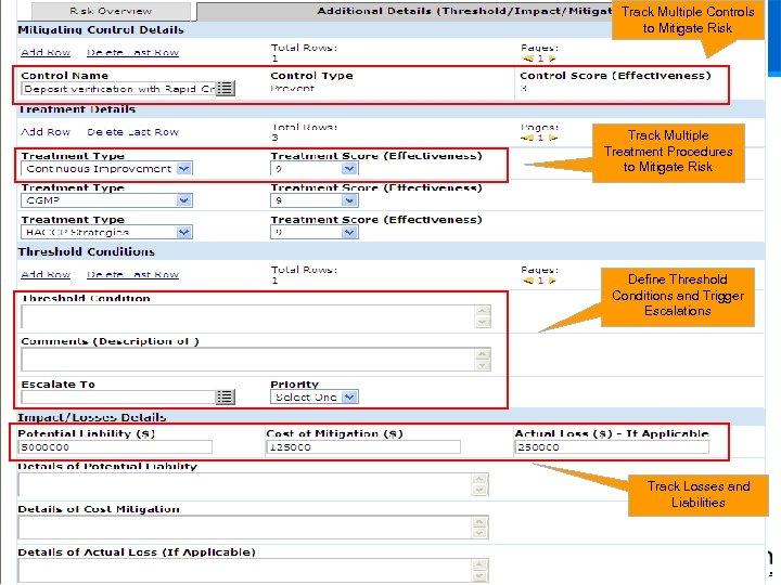 Track Multiple Controls to Mitigate Risk Track Multiple Treatment Procedures to Mitigate Risk Define