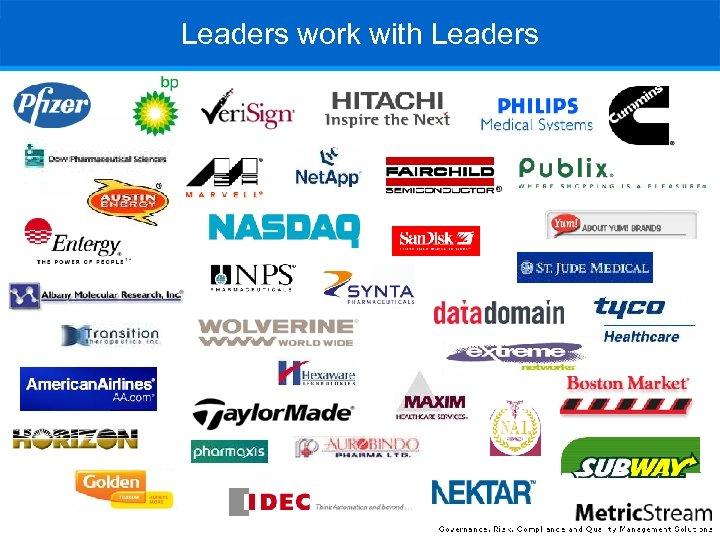 Leaders work with Leaders