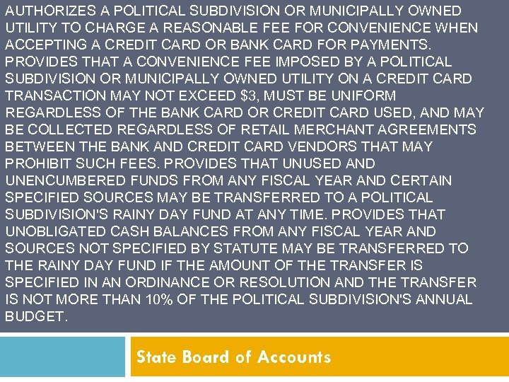 AUTHORIZES A POLITICAL SUBDIVISION OR MUNICIPALLY OWNED UTILITY TO CHARGE A REASONABLE FEE FOR
