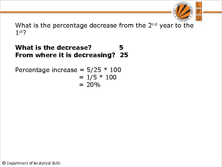 What is the percentage decrease from the 2 nd year to the 1 st?
