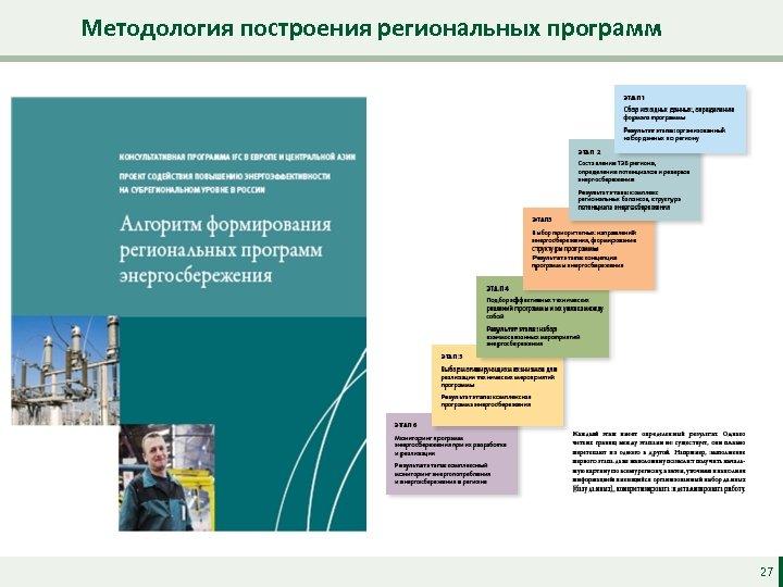 Методология построения региональных программ 27