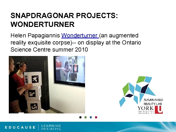 SNAPDRAGONAR PROJECTS: WONDERTURNER Helen Papagiannis Wonderturner (an augmented reality exquisite corpse)-- on display at