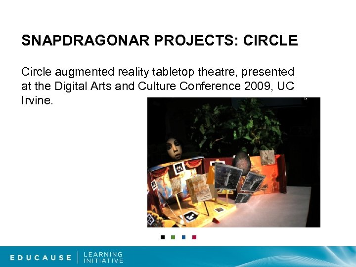 SNAPDRAGONAR PROJECTS: CIRCLE Circle augmented reality tabletop theatre, presented at the Digital Arts and