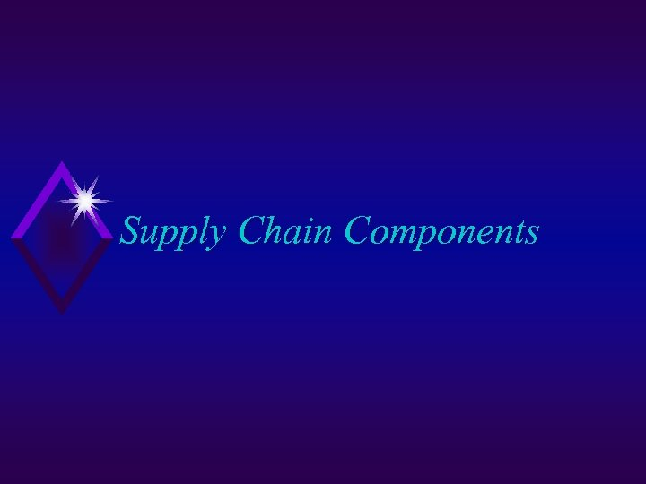 Supply Chain Components