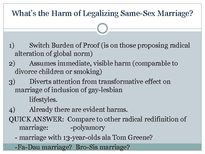 an argument in favor of legalizing gay marriage in society Same-sex marriage (also known as gay marriage)  that the recognition of same-sex unions will promote homosexuality in society,  a 2017 opinion poll showed that 79% of the israeli public were in favor of legalizing same-sex unions (either marriage or civil unions.