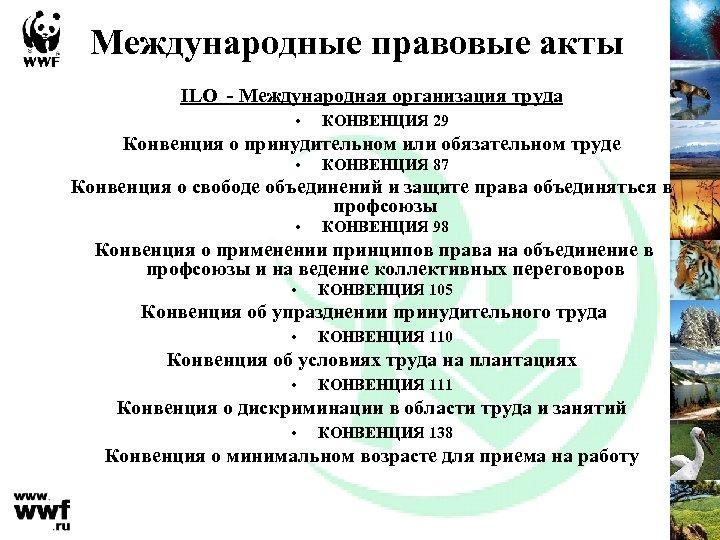 Международные правовые акты ILO - Международная организация труда • КОНВЕНЦИЯ 29 Конвенция о принудительном