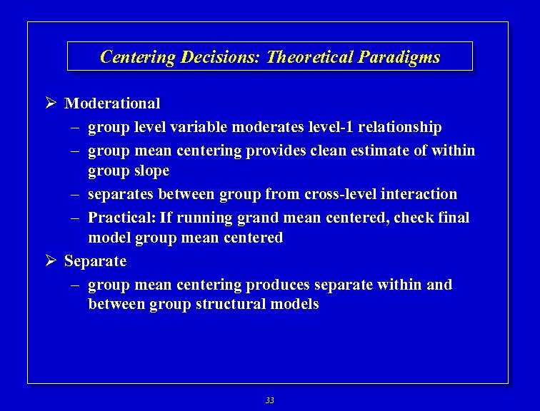 using hierarchical linear modeling methods Hierarchical modeling takes that into account hierarchical regression is the practice of building successive linear regression models, each adding more predictors for example, one common practice is to start by adding only demographic control variables to the model in one step.