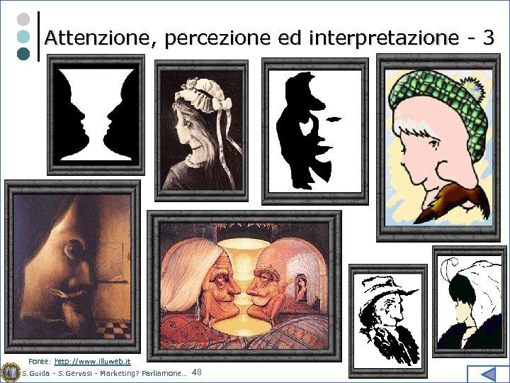 Attenzione, percezione ed interpretazione - 3 Fonte: http: //www. illuweb. it S. Guida -