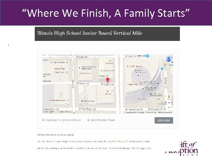 """""""Where We Finish, A Family Starts"""". 115"""