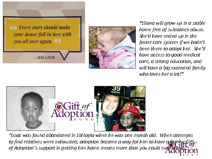 """Together, We Can Move the Needle on will stable Adoption """"Elianafree ofgrow up in"""