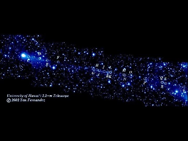 Comet P 57 breaking up