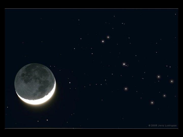 moon. Plieades