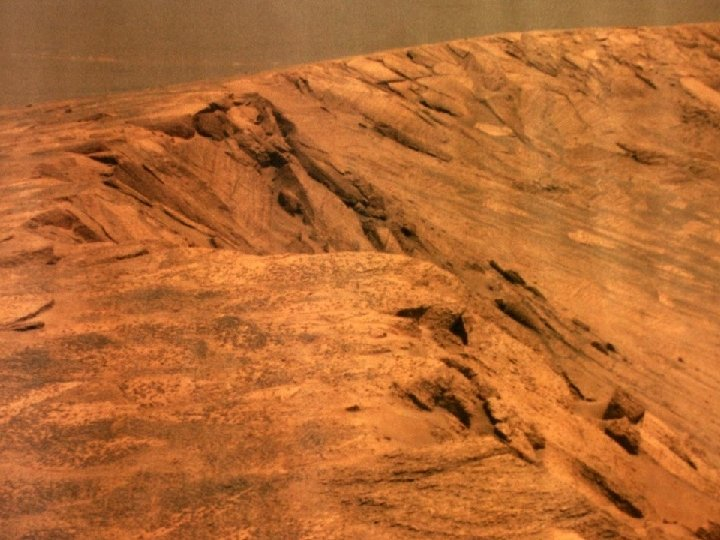 Mars crater edge - rover