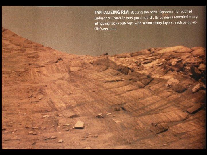 Mars Burns. Cliffs