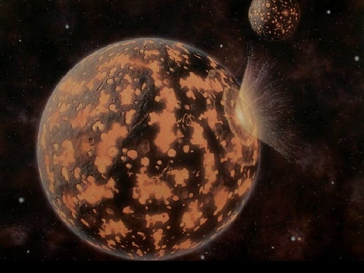 Early inner planet; a ball of lava