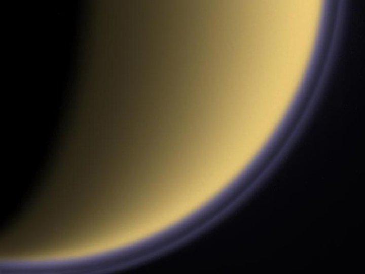 Titan haze from side