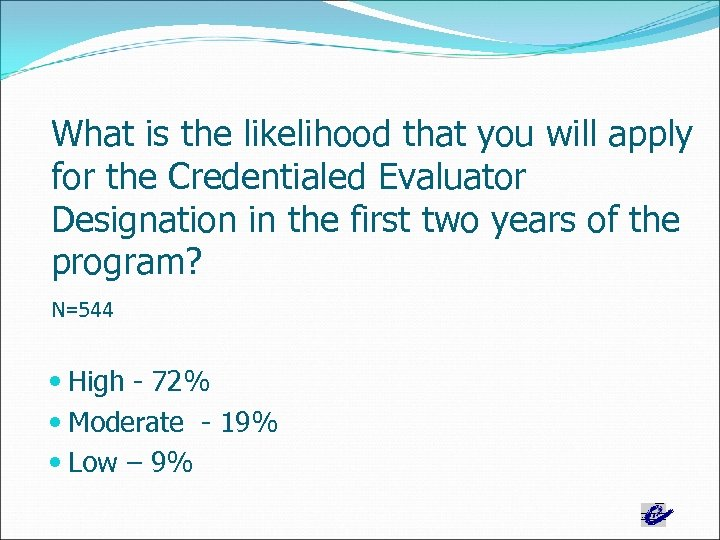 What is the likelihood that you will apply for the Credentialed Evaluator Designation in