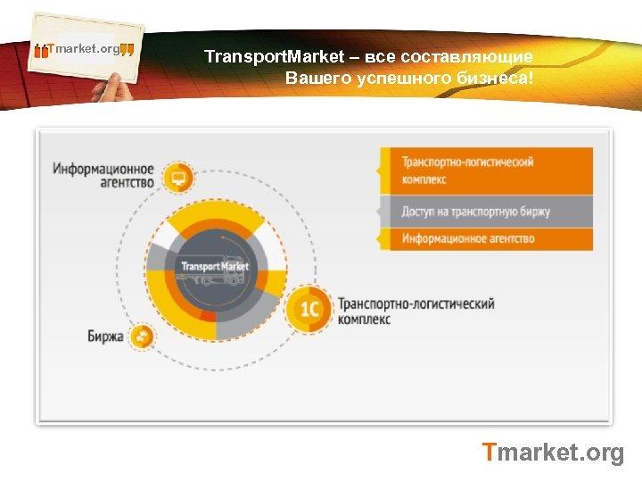 Tmarket. org LOGO Transport. Market – все составляющие Вашего успешного бизнеса! Tmarket. org