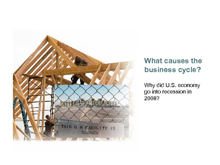 What causes the business cycle? Why did U. S. economy go into recession in