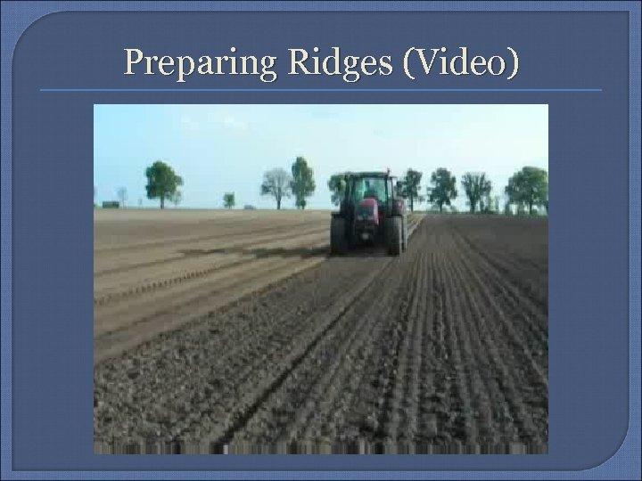 Preparing Ridges (Video)