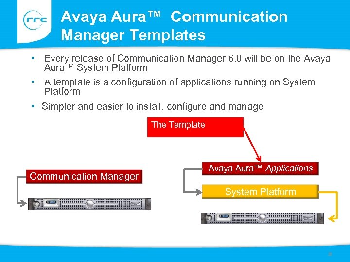 Avaya Aura™ Communication Manager Templates • Every release of Communication Manager 6. 0 will