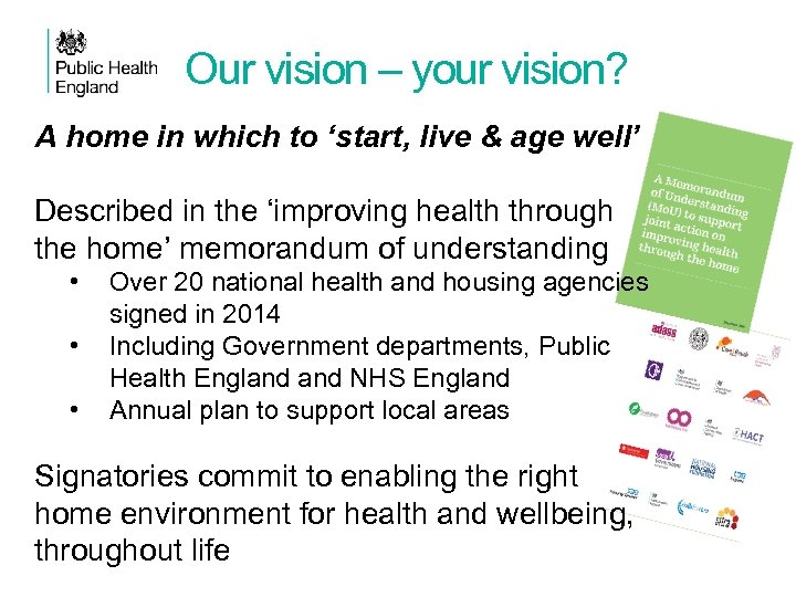 Our vision – your vision? A home in which to 'start, live & age