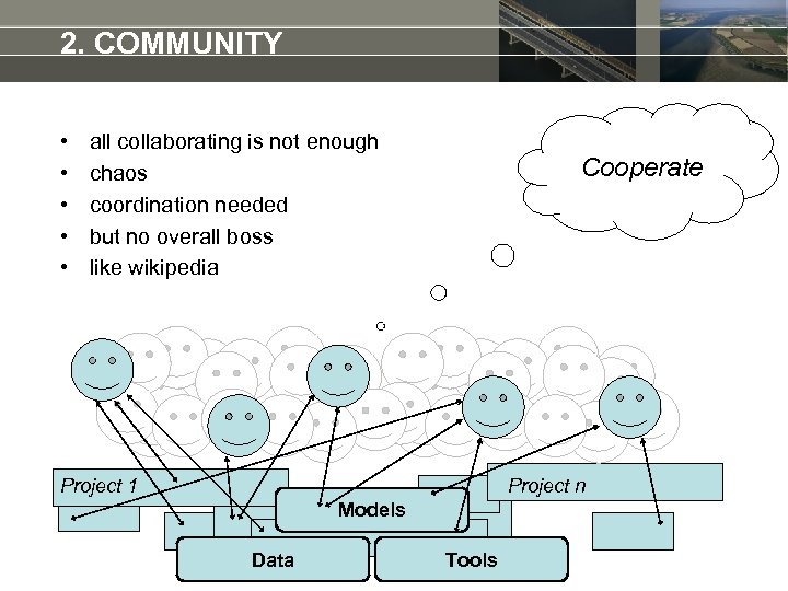 2. COMMUNITY • • • all collaborating is not enough chaos coordination needed but