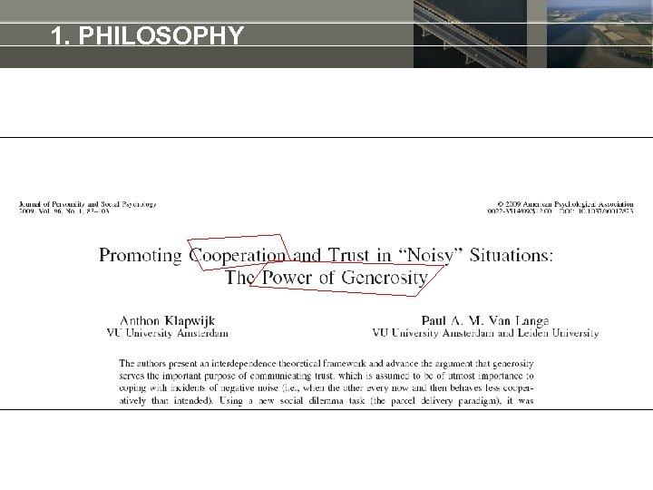 1. PHILOSOPHY
