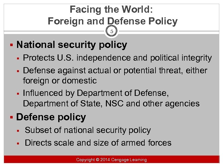 14: Foreign Policy and National Defense