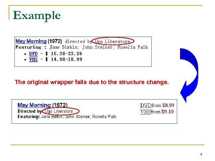 Example The original wrapper fails due to the structure change. 4