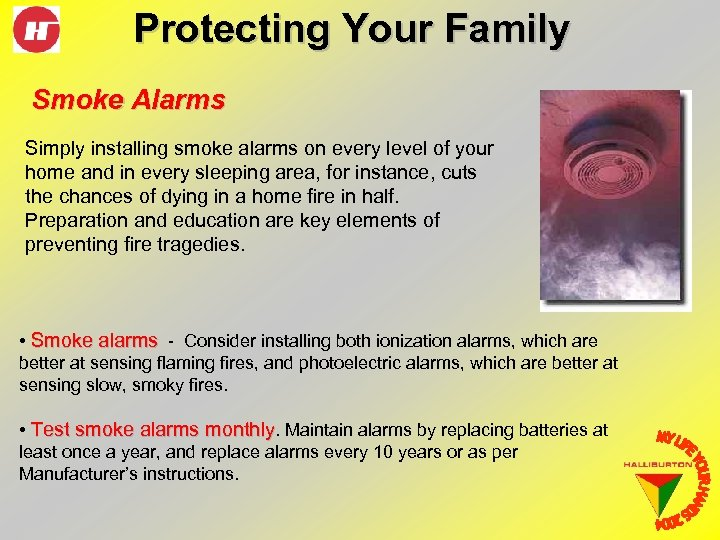 Protecting Your Family Smoke Alarms Simply installing smoke alarms on every level of your