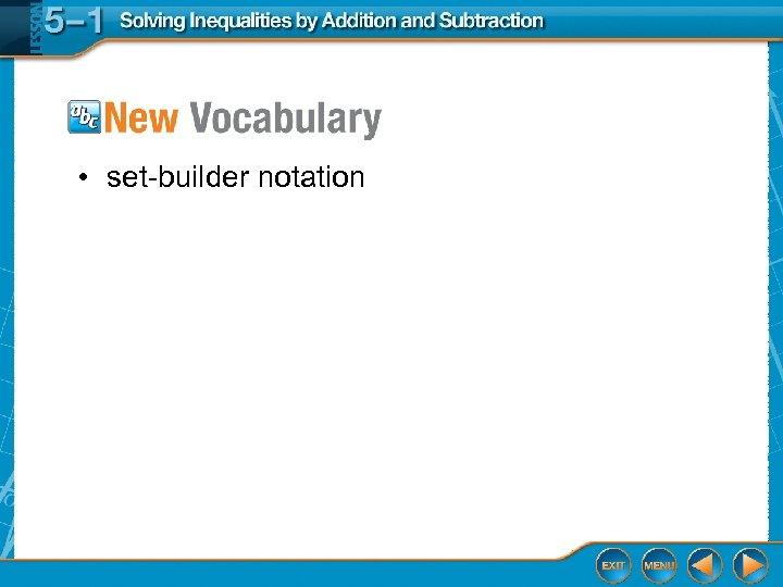 • set-builder notation