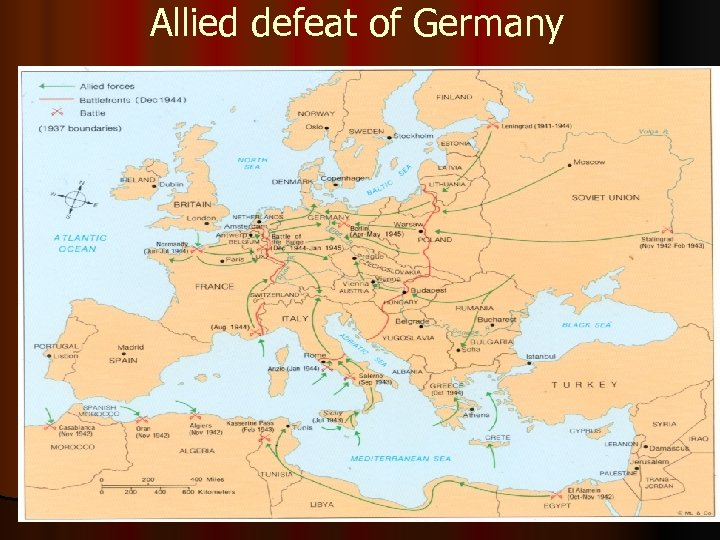 Allied defeat of Germany