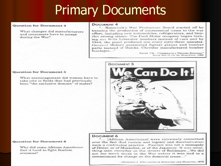 Primary Documents