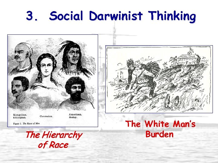 3. Social Darwinist Thinking The Hierarchy of Race The White Man's Burden