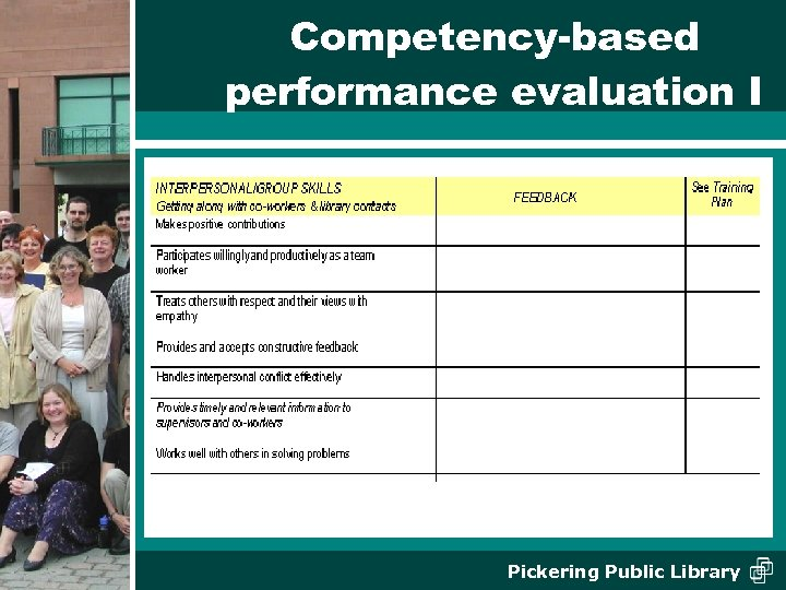 Competency-based performance evaluation I Pickering Public Library