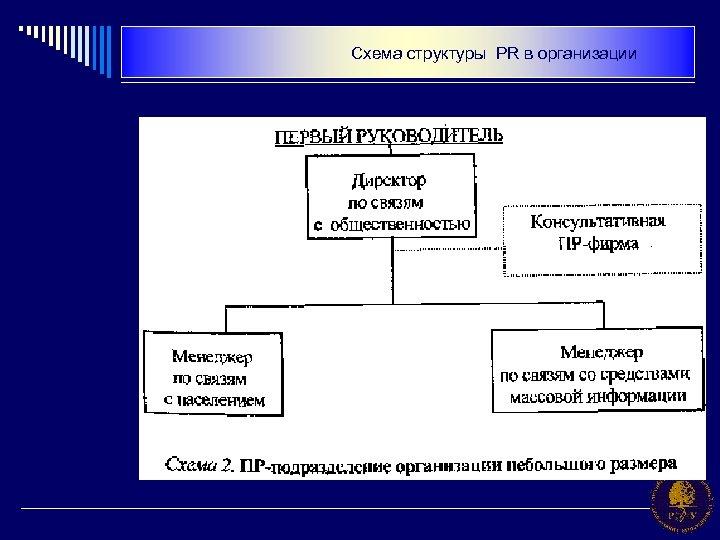 Схема структуры PR в организации
