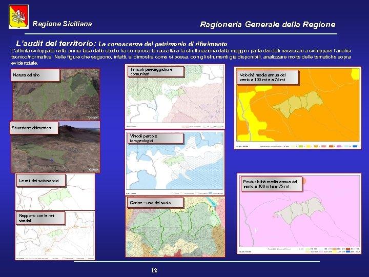 Regione Siciliana Ragioneria Generale della Regione L'audit del territorio: La conoscenza del patrimonio di