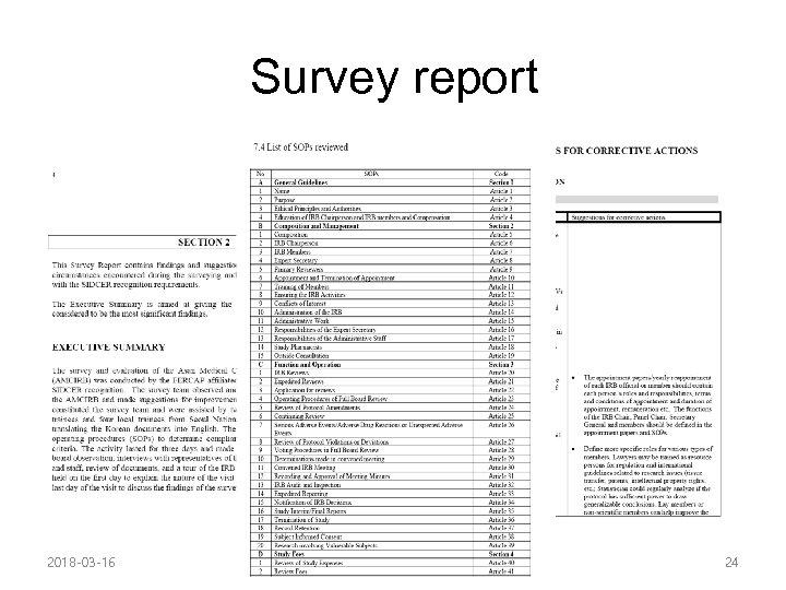 Survey report 2018 -03 -16 24