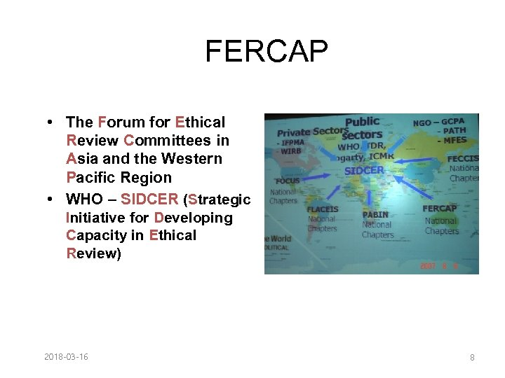 FERCAP • The Forum for Ethical Review Committees in Asia and the Western Pacific