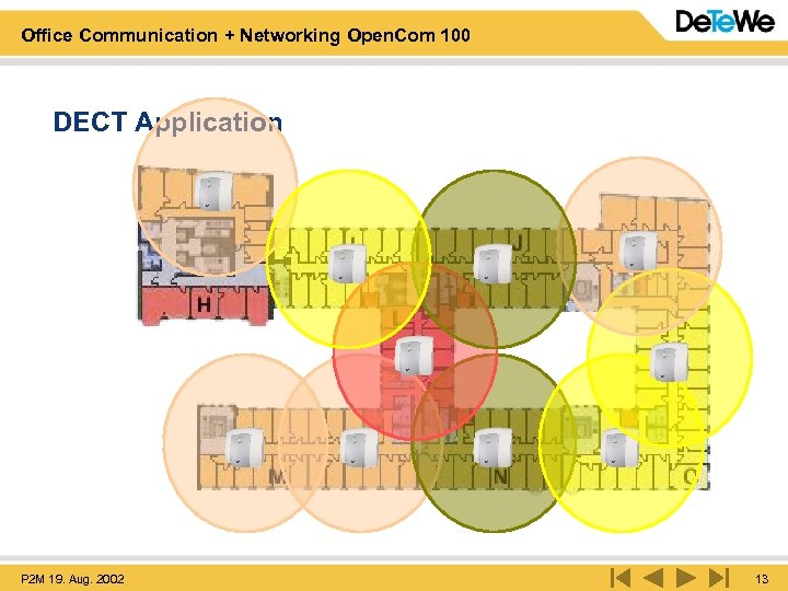Office Communication + Networking Open. Com 100 DECT Application P 2 M 19. Aug.